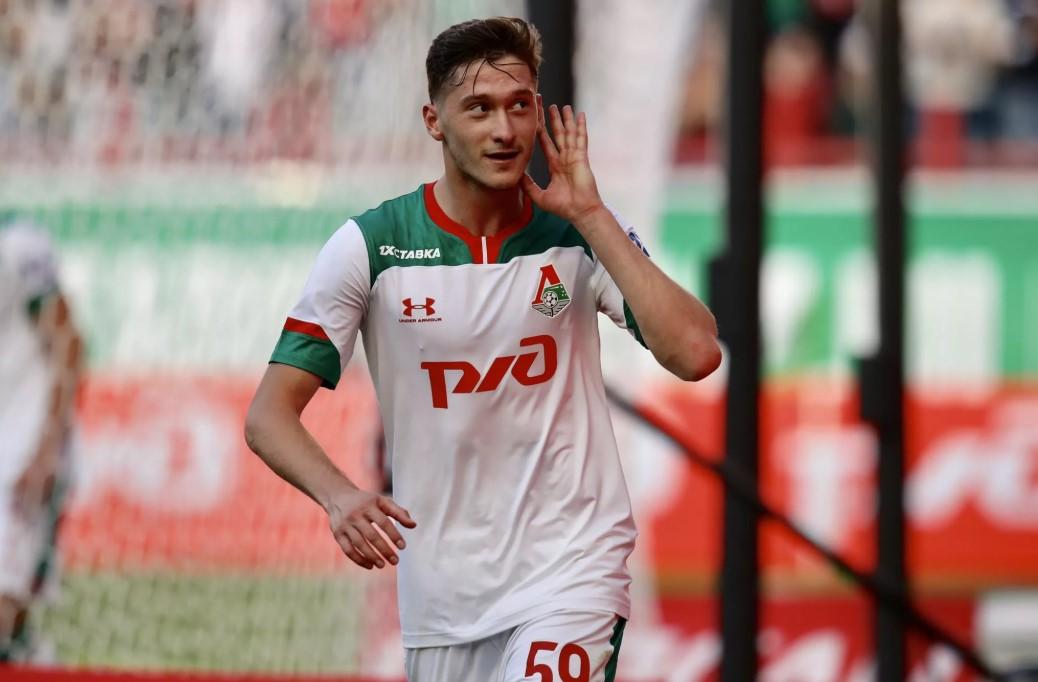 Алексей Миранчук во время матча