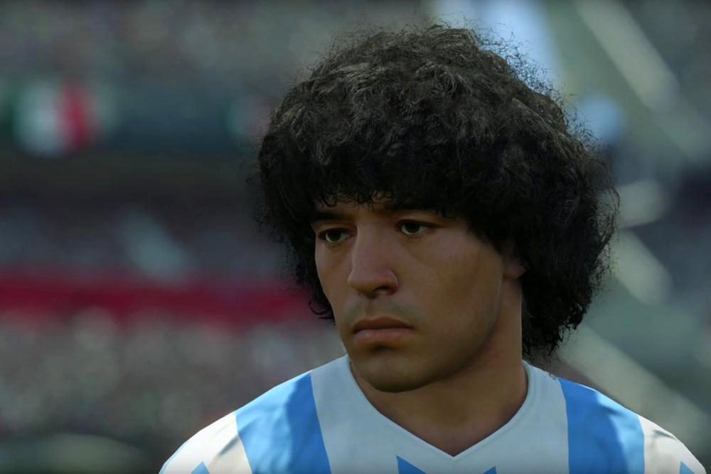 футболист Марадона