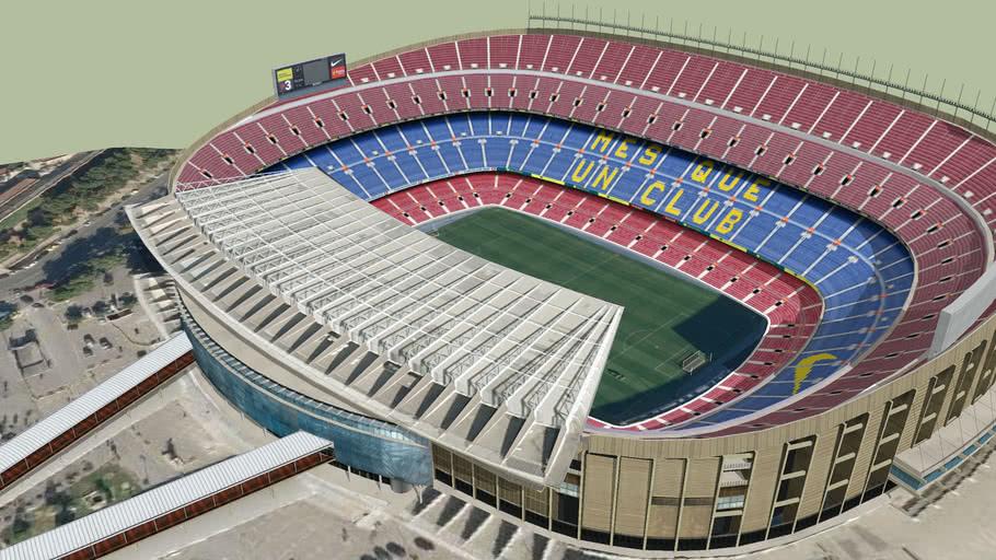 стадион Camp Nou, построенный для ФК БАРСЕЛОНА